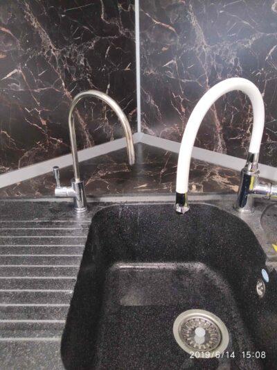 Пример установки крана чистой воды